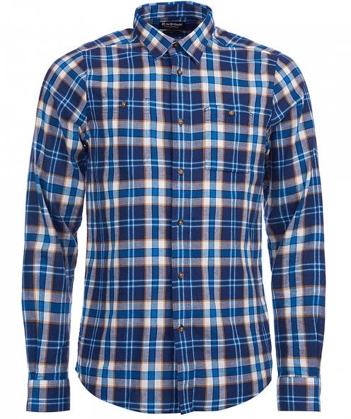 Barbour International Tailored Fit Flannel Check Wrench Shirt