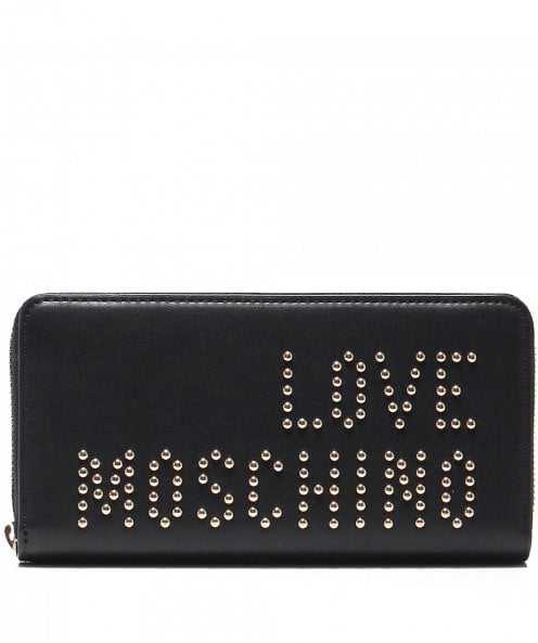 Moschino Love Moschino Studded Zip-Around Purse