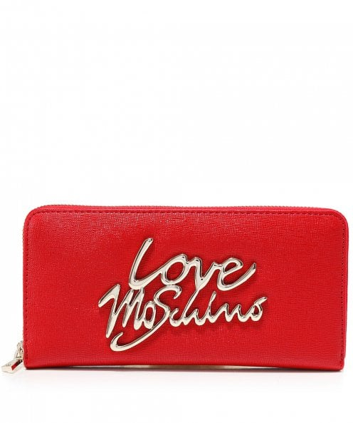 Moschino Love Moschino Leather Zip-Around Purse