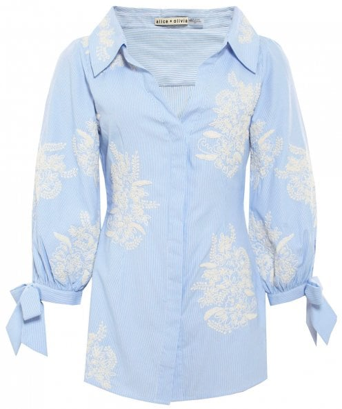 Alice and Olivia Toro Embroidered Shirt
