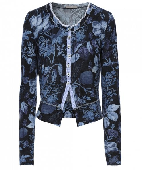 High Floral Tidy Button Top