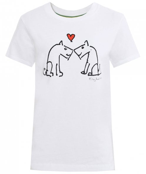 PS by Paul Smith Dogs Kissing T-Shirt