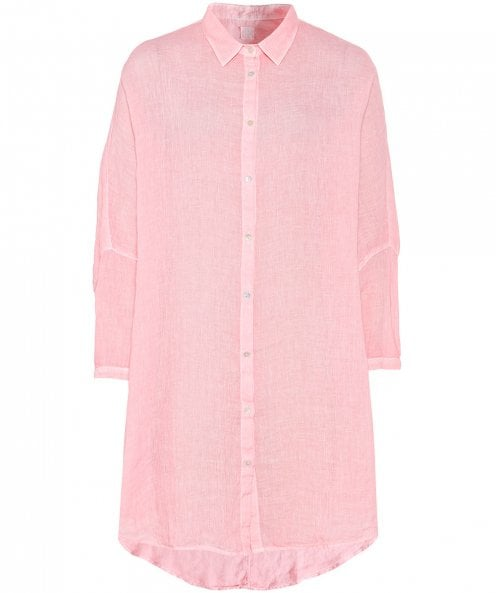 120% Lino Linen Oversized Button Down Shirt