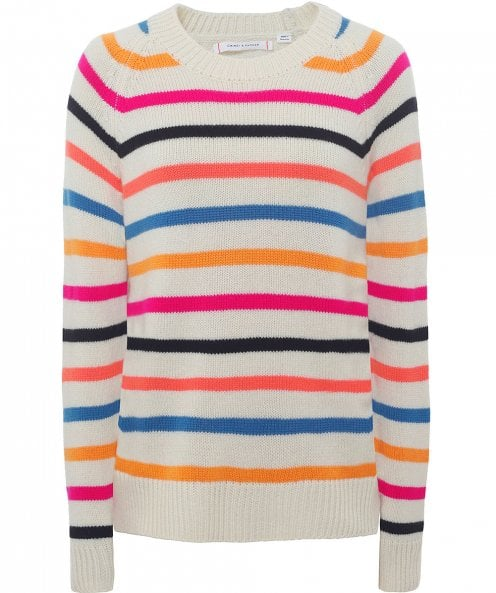 Chinti and Parker Cashmere Breton Jumper