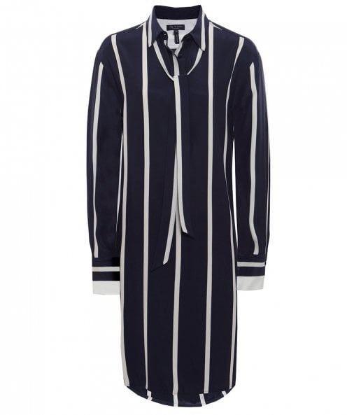 Rag and Bone Silk Arc Striped Tunic Dress