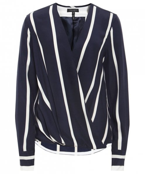 Rag and Bone Silk Victor Stripe Blouse