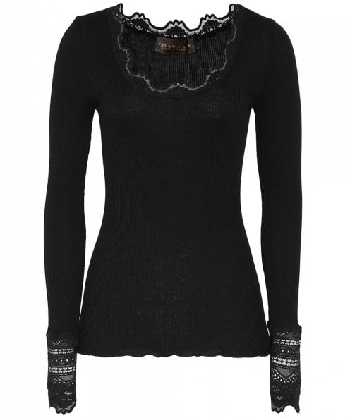 Rosemunde Silk Long Sleeve Lace Top