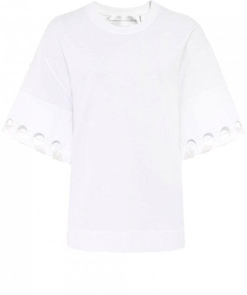 Victoria Victoria Beckham Laced Sleeve T-Shirt
