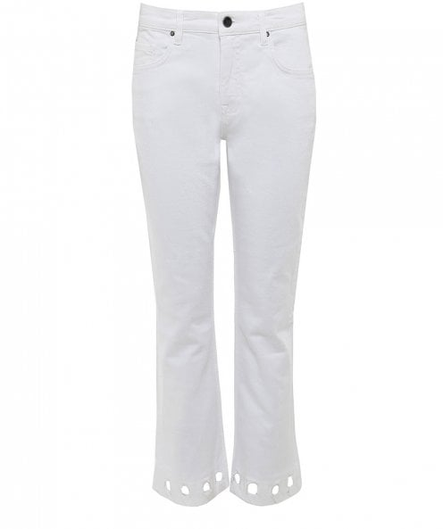 Victoria Beckham Mini Flare Cropped Jeans