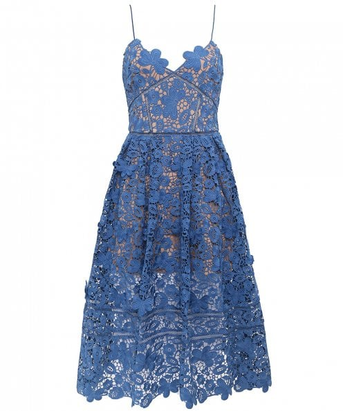 Self-Portrait 3D Floral Azaelea Lace Dress
