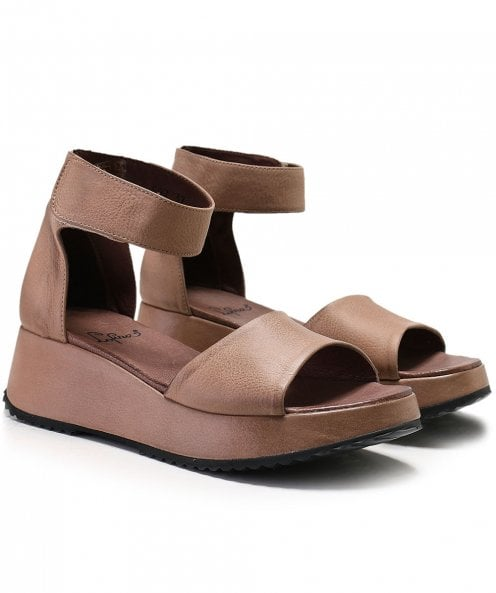 Lofina Gasoline Ankle Strap Sandals