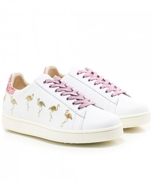 MOA Master of Arts Embroidered Flamingo Trainers