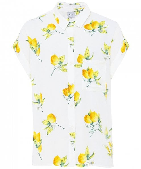 Rails Whitney Lemon Print Short Sleeved Shirt