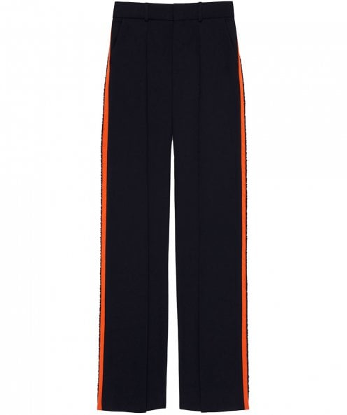 Victoria Victoria Beckham Front Pleat Tailored Trousers