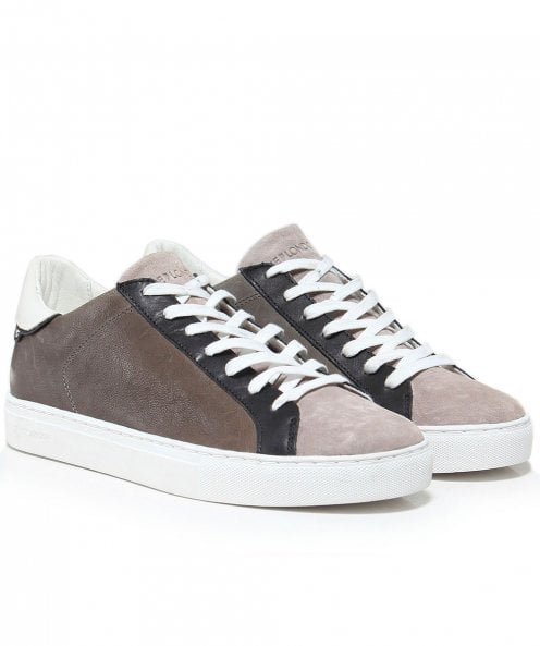 Crime London Leather & Suede Beat Trainers