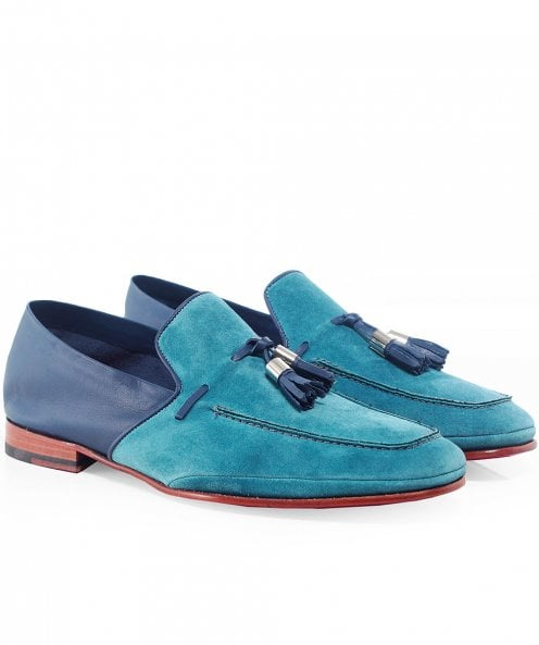 Jeffery-West Suede Martini Tassel Loafers