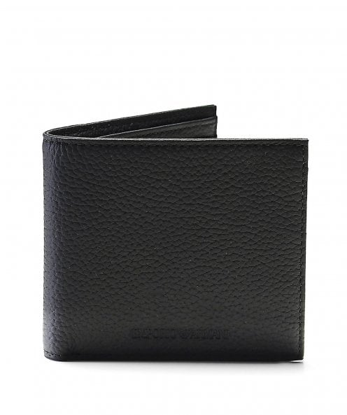 Armani Tumbled Leather Bifold Wallet