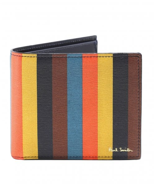 Paul Smith Bright Stripe Billfold Coin Wallet