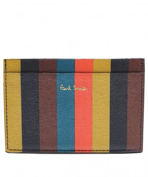 Paul Smith Leather Striped Card Holder