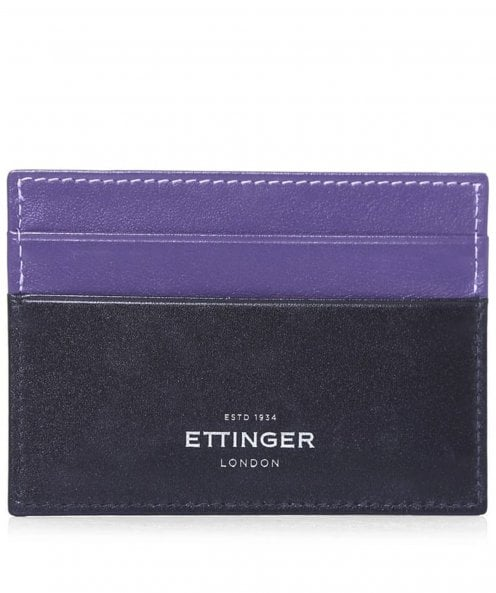 Ettinger Calf Leather Sterling Flat Card Case