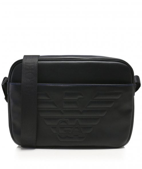 Armani Maxi Logo Messenger Bag