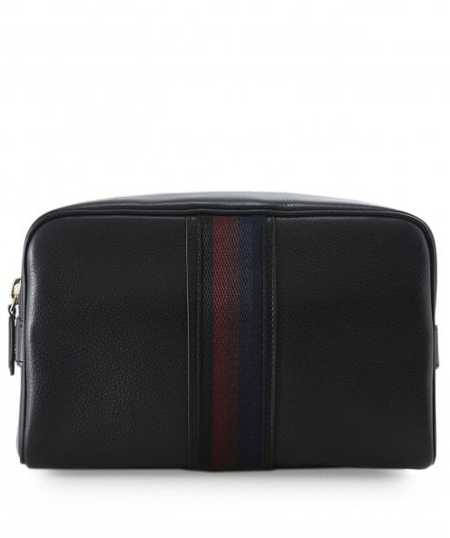 Paul Smith Leather City Webbing Wash Bag