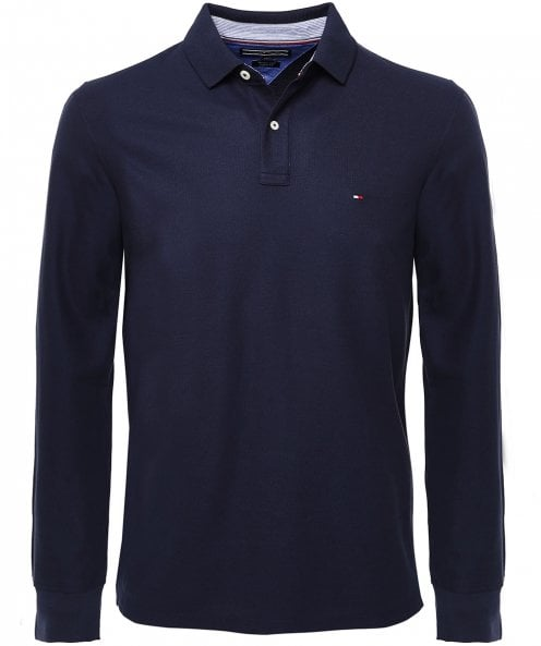 Tommy Hilfiger Pique Cotton Long Sleeve Polo Shirt