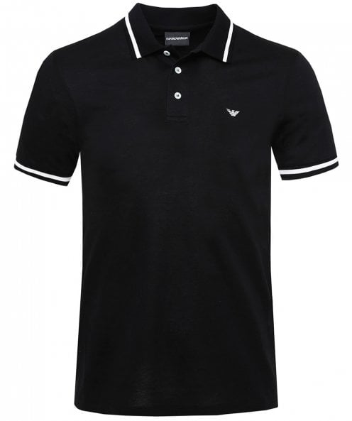 Armani Contrast Tipped Polo Shirt