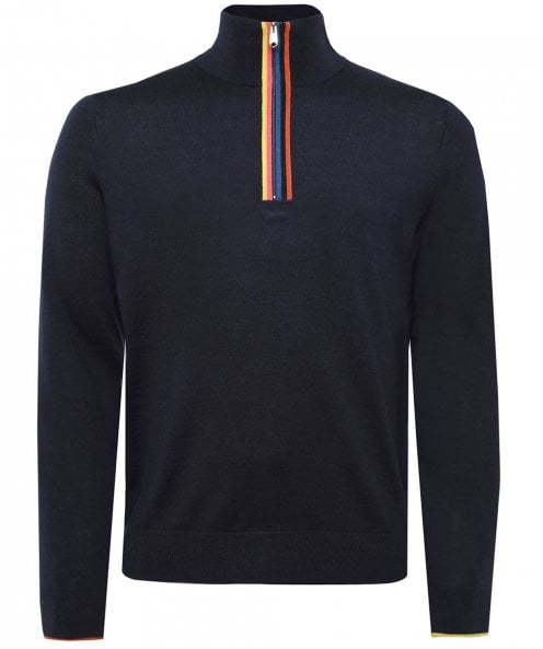 Paul Smith Merino Wool Artist Stripe Zip Jumper