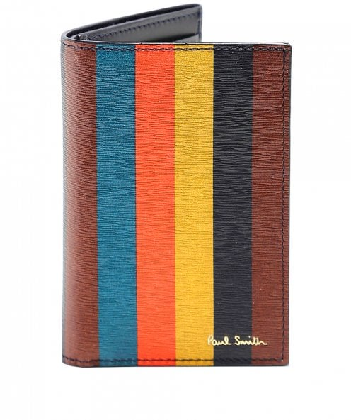 PS by Paul Smith Bright Stripe Leather Card Holder