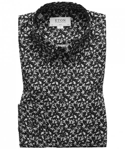 Eton Slim Fit Fox Print Shirt