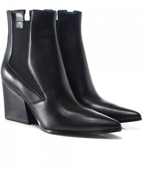 Kendall and Kylie Shoes Matte Leather Finigan Ankle Boots