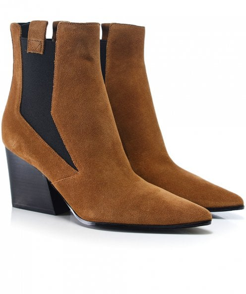Kendall and Kylie Shoes Suede Finigan Ankle Boots