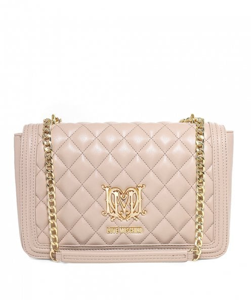 Moschino Love Moschino Quilted Leather Foldover Bag