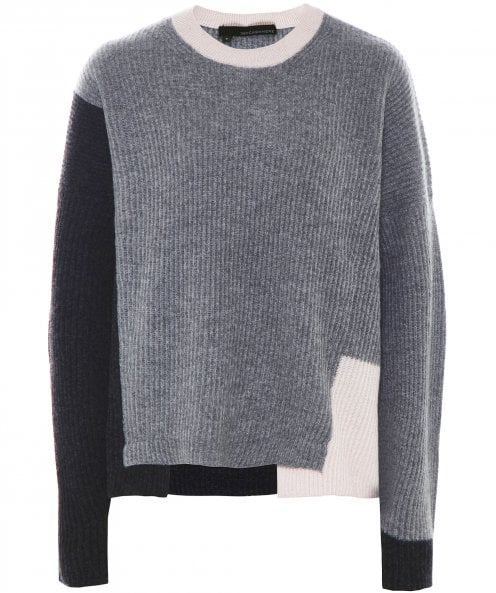 360 Cashmere Cashmere Colour Block Jumper