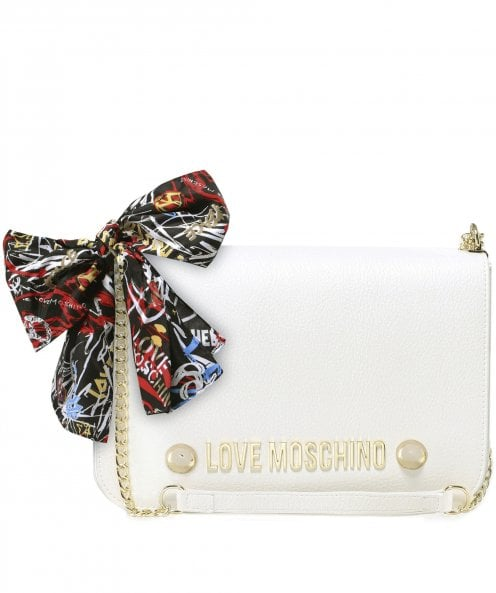 Moschino Love Moschino Scarf Tie Chain Shoulder Bag