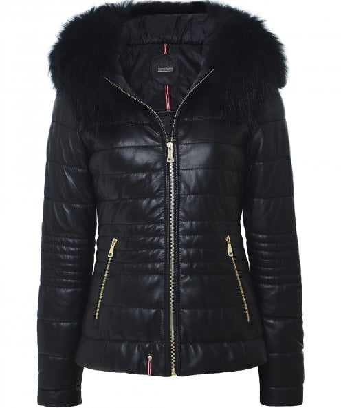 Oakwood Jelly Fur Trim Leather Jacket