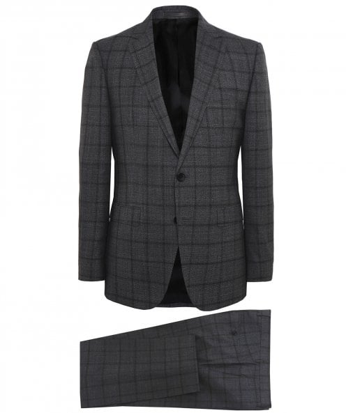 BOSS Virgin Wool Novan5/Ben2 Check Suit