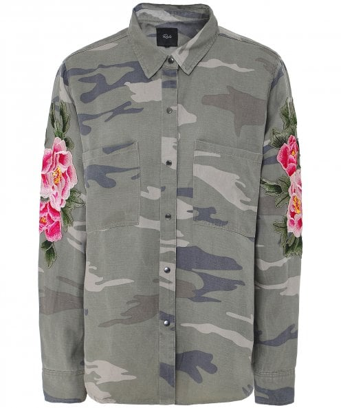 Rails Marcel Camo Floral Patch Shirt