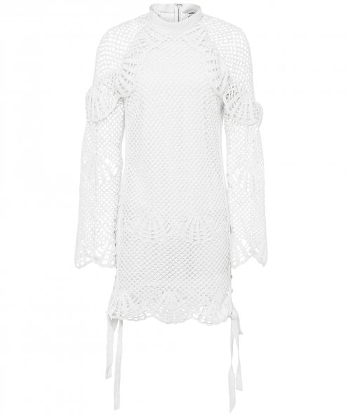 Self-Portrait Crochet Tunic Dress