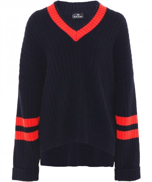 PS by Paul Smith V Neck Slouch Knit Jumper