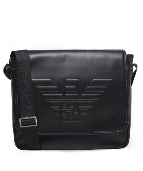 Armani Maxi Logo Large Messenger Bag