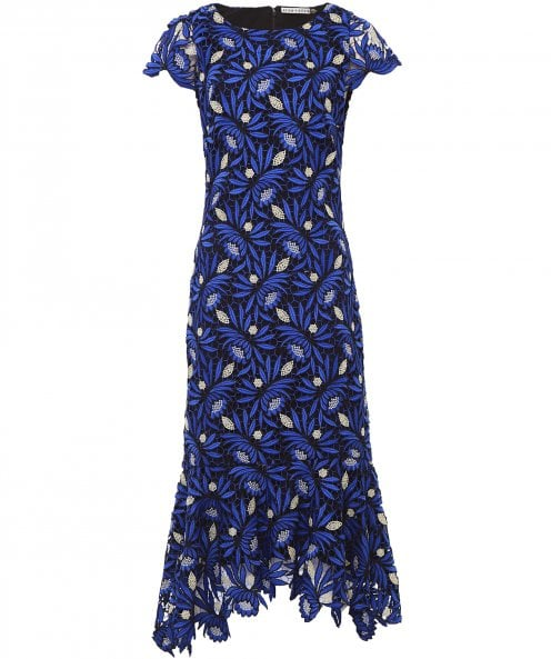Alice and Olivia Cleora Ruffle Midi Dress