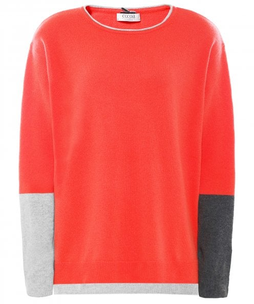 Cocoa Cashmere Cashmere Colour Block Jumper