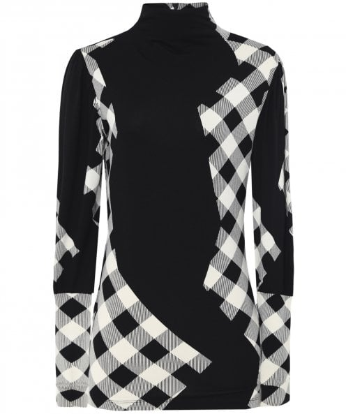 Isabel de Pedro Geometric Checked Print Top