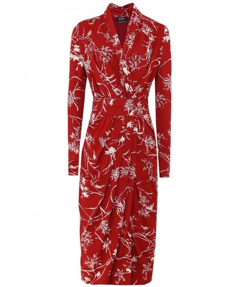 Isabel de Pedro Japanese Floral Wrap Dress