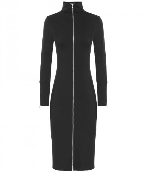 Isabel de Pedro Zip Front Midi Dress