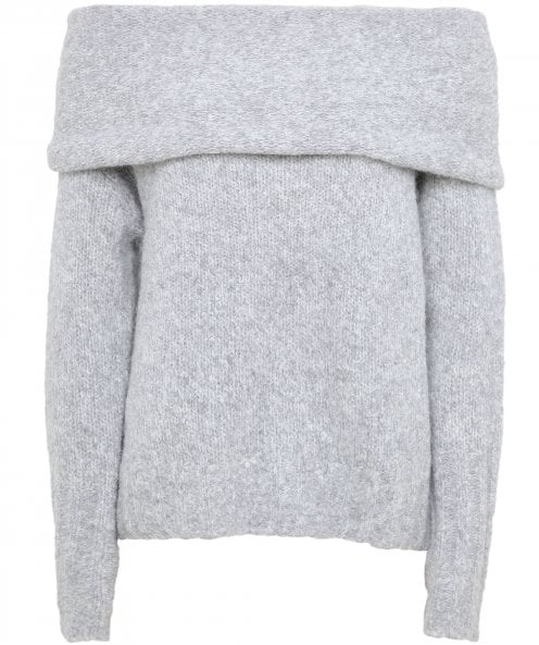Vince Alpaca Off The Shoulder Jumper