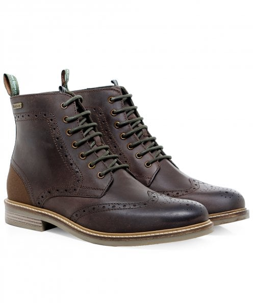 Barbour Leather Belsay Brogue Boots