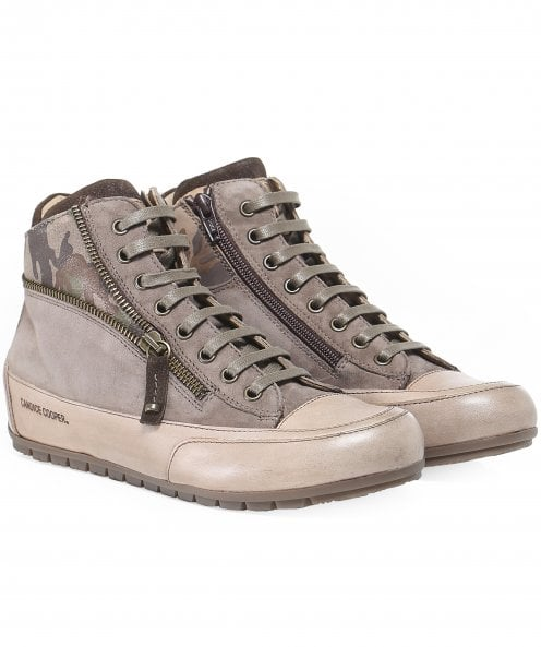 Candice Cooper Beverly Camo High Top Trainers